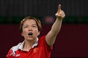 中國羽球選手